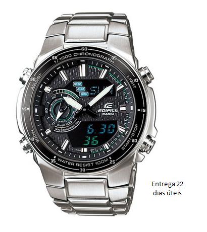 a9423067531 Relógio Casio Edifice EFA131D-1A2V prata em aço inoxidável - Moda brasil